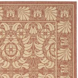 "Safavieh Courtyard Rust Red/ Sand Indoor/ Outdoor Rug (2'7"" x 5') - Thumbnail 1"