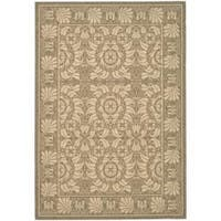Safavieh Courtyard Coffee Brown/ Sand Indoor/ Outdoor Rug - 5'3 x 7'7