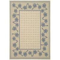 "Safavieh Courtyard Palm Tree Ivory/ Blue Indoor/ Outdoor Rug (2'7 x 5') - 2'7"" x 5'"