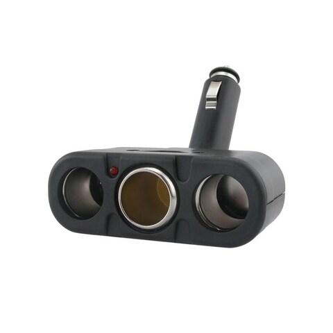 Insten Black Three-Way Car Cigarette Lighter Socket Splitter