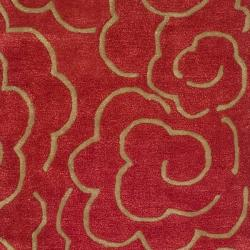 Safavieh Handmade Soho Roses Red New Zealand Wool Runner (2'6 x 8')