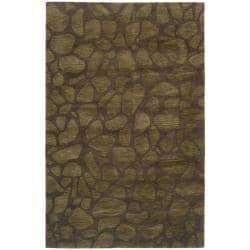 Safavieh Handmade Soho Pebbles Brown New Zealand Wool Rug (3'6 x 5'6')