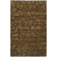 "Safavieh Handmade Soho Pebbles Brown New Zealand Wool Rug - 3'6"" x 5'6"""