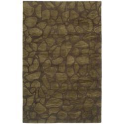 Safavieh Handmade Soho Pebbles Brown New Zealand Wool Rug (5'x 8')