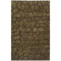 Safavieh Handmade Soho Pebbles Brown New Zealand Wool Rug - 5'x 8'