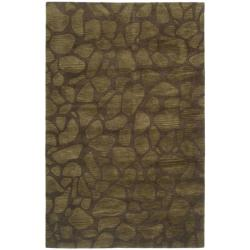 Safavieh Handmade Soho Pebbles Brown New Zealand Wool Rug - 7'6 x 9'6 - Thumbnail 0