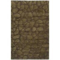 Safavieh Handmade Soho Pebbles Brown New Zealand Wool Rug - 7'6 x 9'6
