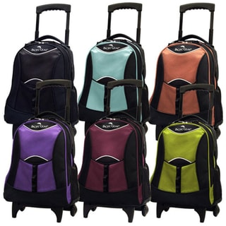 Pacific Gear by Traveler's Choice Lightweight Carry On Unisex Wheeled Polyester Backpack