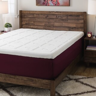 SwissLux Euro Extraordinaire 3-inch Memory Foam Quilted Mattress Topper