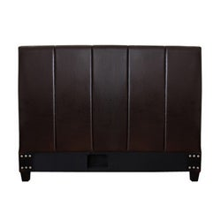 Cairo Dark Brown Leather Queen-size Headboard - Thumbnail 1