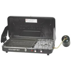Stansport Piezo Igniter Propane Stove and Grill Combo - Thumbnail 1
