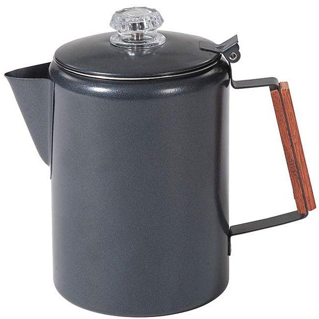 Stansport 12-cup Black Granite Percolator Coffee Pot