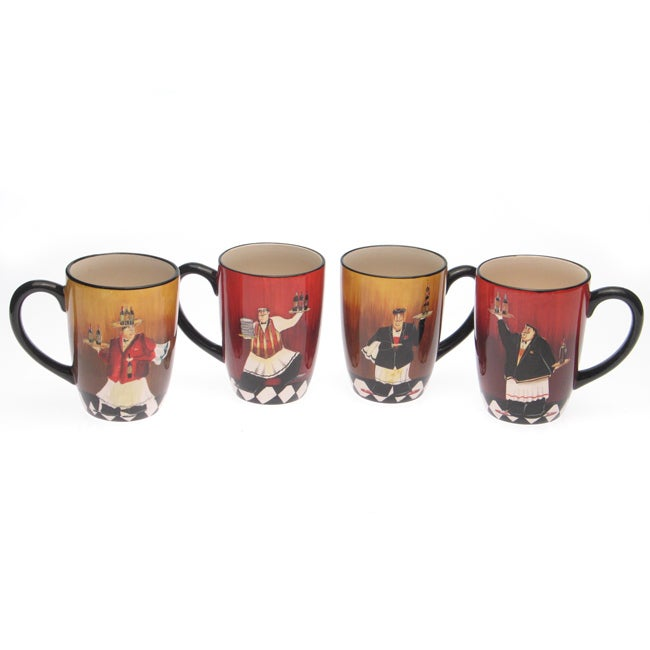 Certified International 'Bistro' 18-oz Mugs (Set of 4)