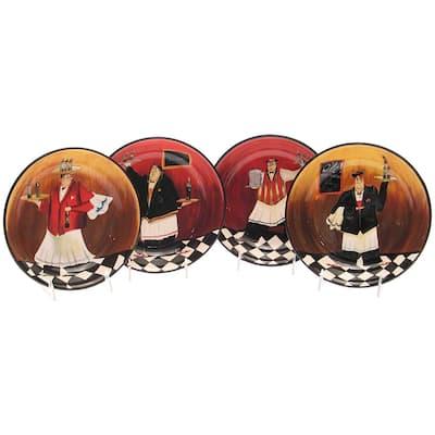 Certified International 'Bistro' 9-inch Soup/ Pasta Bowls (Set of 4)