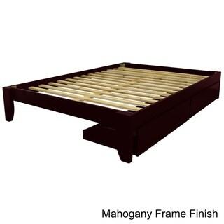 Scandinavia Queen Solid Bamboo Wood Platform Bed