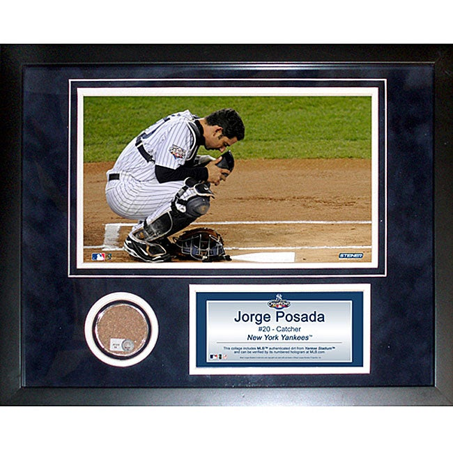 Steiner Sports Jorge Posada 11x14 Mini Dirt Collage - Thumbnail 0