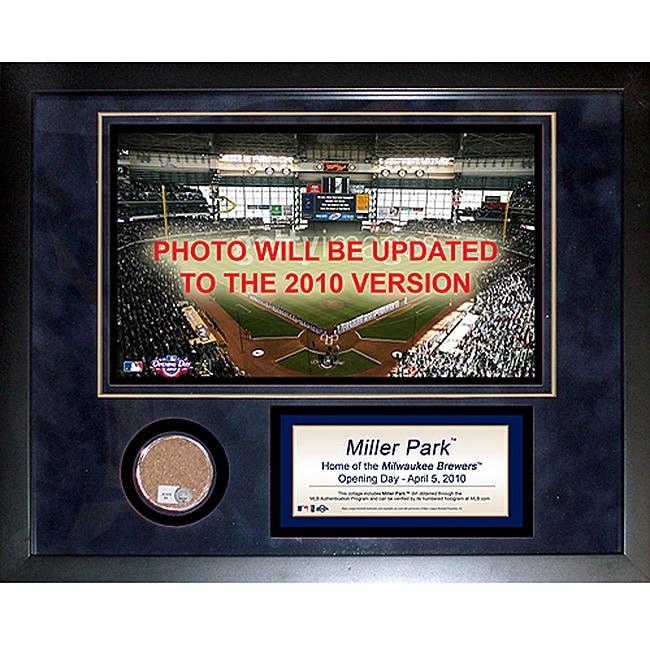 Steiner Sports Miller Park Mini Dirt Collage