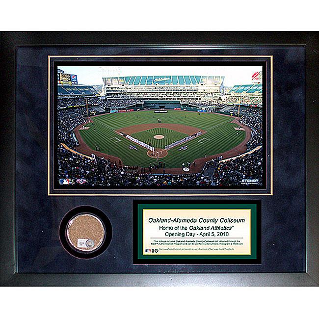 Steiner Sports Oakland Athletics Alameda County Coliseum 11x14 Mini Dirt Collage