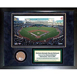 Steiner Sports Oakland Athletics Alameda County Coliseum 11x14 Mini Dirt Collage