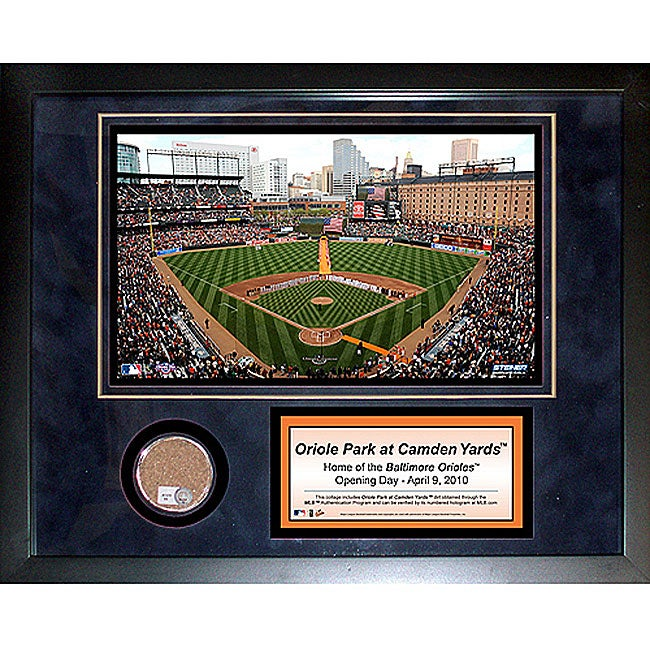 Steiner Sports Oriole Park 11x14 Mini Dirt Collage - Thumbnail 0
