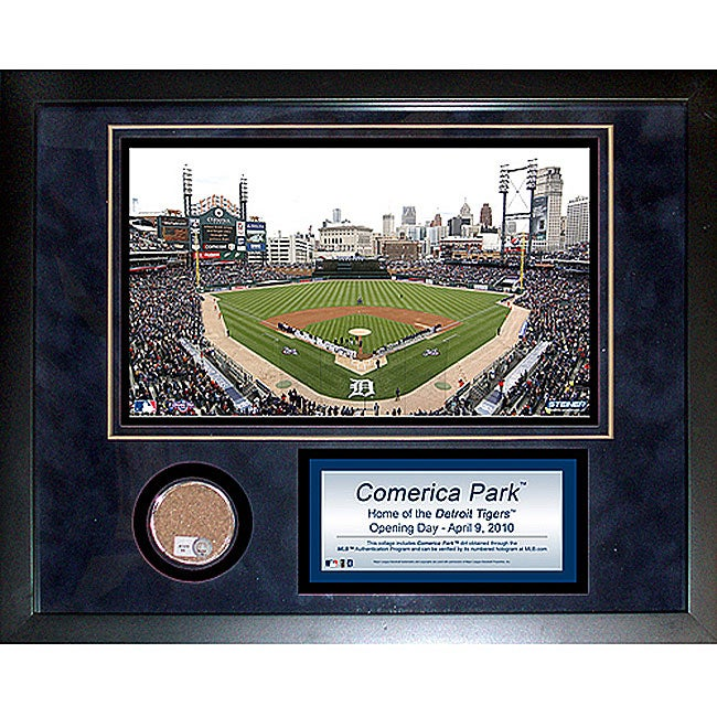 Steiner Sports Comerica Park Mini Dirt Collage