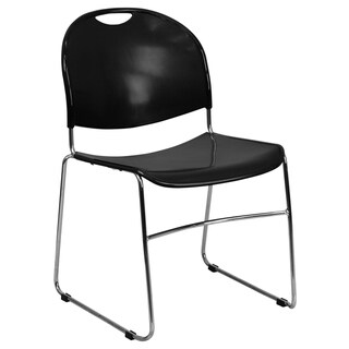 "Ultra-Compact School Stack Chair - Office Guest Chair/Student Chair - 19.5""W x 20.75""D x 31""H"