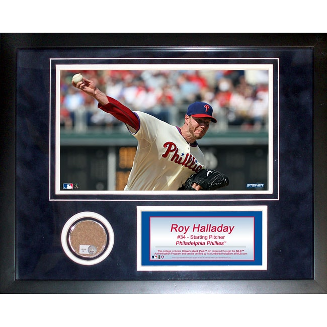 Steiner Sports Roy Halladay 11x14 Mini Dirt Collage - Thumbnail 0
