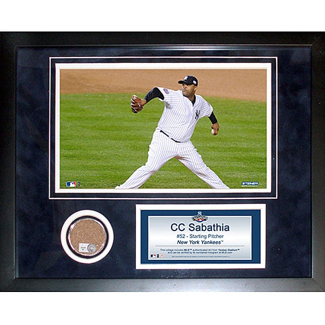 3acac9585f6 Shop Steiner Sports CC Sabathia 11x14 Mini Dirt Collage - Free Shipping  Today - Overstock - 5066692