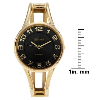 Geneva Platinum Women's Polished Bangle Watch