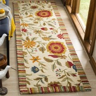 Safavieh Handmade Jardine Ivory Wool Runner (2'6 x 8')