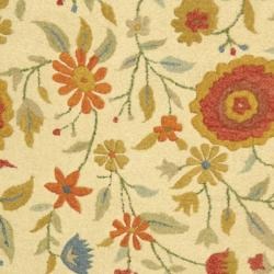 Safavieh Handmade Jardine Ivory Wool Rug (8' x 11')