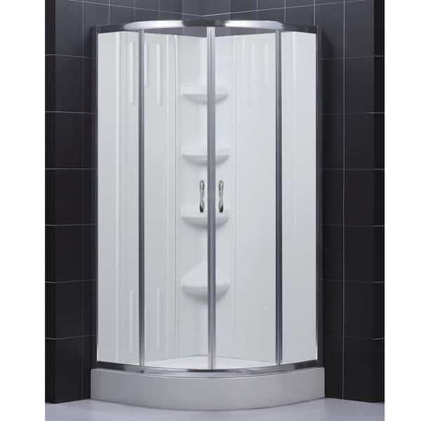 Shop DreamLine 32x32 inch Complete Shower Kit   Overstock   5068895