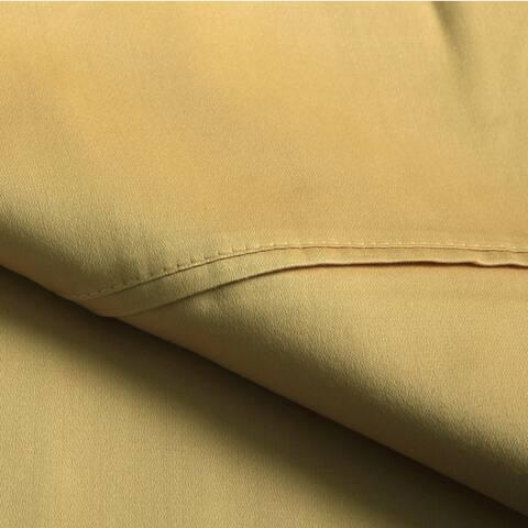 Miranda Haus Egyptian Cotton Sateen 300-Thread Count Solid Sheet Set