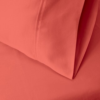 Superior 300 Thread Count Split King Deep Pocket Cotton Sateen Sheet Set (Option: Coral)