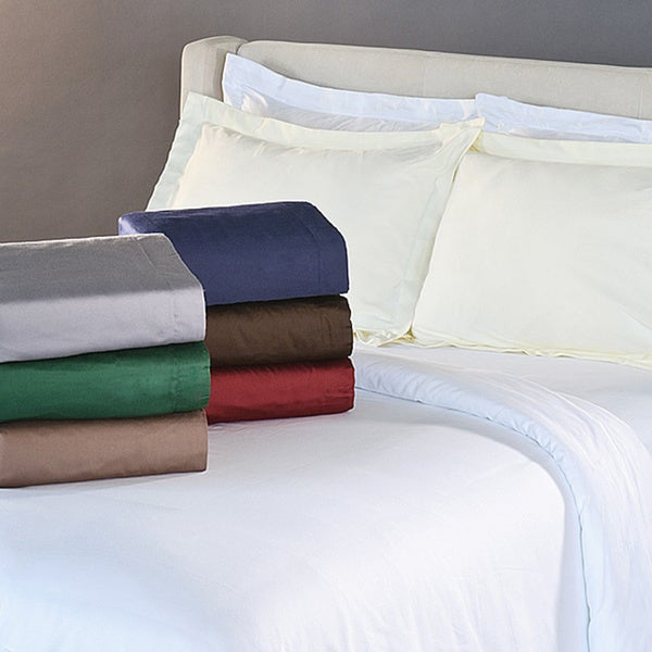 Superior Egyptian Cotton 400 Thread Count Solid Sateen Duvet Cover Set
