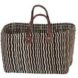 Thumbnail 2, Straw and Leather 'Safari Chic' Oversized Tote (Morocco). Changes active main hero.