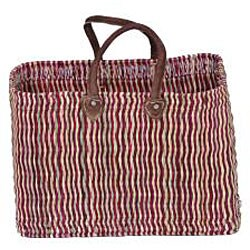 Thumbnail 3, Straw and Leather 'Safari Chic' Oversized Tote (Morocco). Changes active main hero.