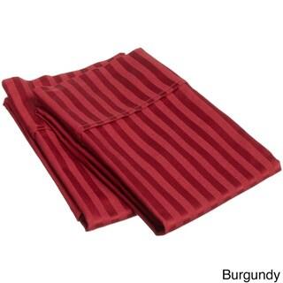 Superior 100-percent Premium Long-staple Combed Cotton 400 Thread Count Stripe Pillowcases (Set of 2)
