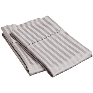 Superior 400 Thread Count Deep Pocket Stripe Cotton Sateen Pillowcase Set