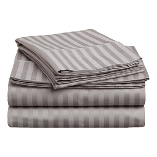 Superior 400 Thread Count Deep Pocket Stripe Cotton Sateen Sheet Set (More options available)