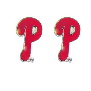 Philadelphia Phillies MLB Charm Post Stud Logo Earring Set