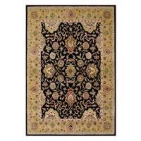 Alliyah Handmade Moon Indigo New Zealand Blend Wool Rug(6' x 9') - 6' x 9'