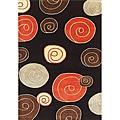 Alliyah Handmade Black New Zealand Blend Wool Rug (5' x8')