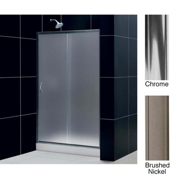 Dreamline infinity 44 48x72 inch frosted glass sliding shower door free shipping today