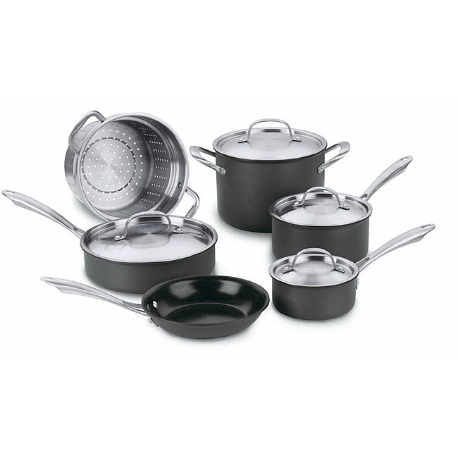 Cuisinart GreenGourmet Anodized Aluminum 10-Piece Cookware Set - Thumbnail 0