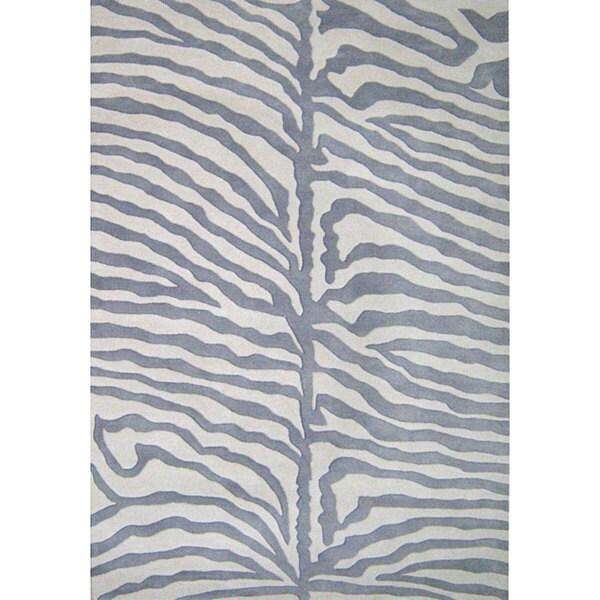 Alliyah Handmade Grey New Zealand Blend Wool Rug (8' x 10') - 8' x 10'