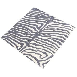Alliyah Handmade Grey New Zealand Blend Wool Rug (5' x 8')