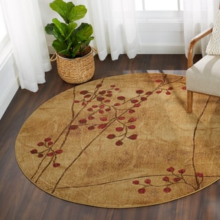 Nourison Somerset Latte Area Rug (5'6 Round)|https://ak1.ostkcdn.com/images/products/5070771/P12930575.jpg?impolicy=medium