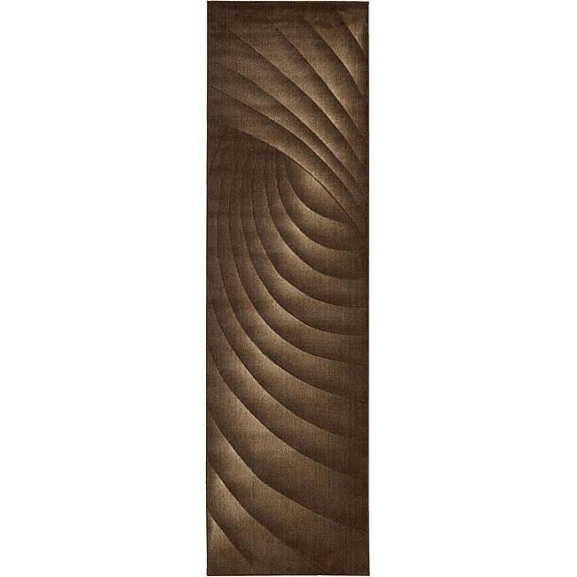 Nourison Somerset Brown Area Rug (2'3 x 8')