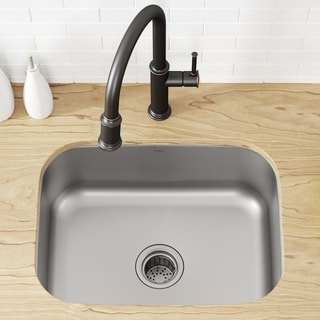 Kraus KBU12 Undermount 23 inch 1-Bowl Stainless Steel Kitchen Sink